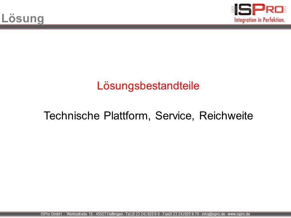 ISPro GmbH - Werksstraße 15 - 45527 Hattingen - Tel.(0 23 24) 920 9-0 - Fax(0 23 24) 920 9-70 - info@ispro.de - www.ispro.de Lösung Lösungsbestandteil