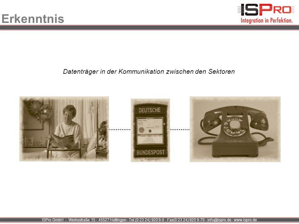 ISPro GmbH - Werksstraße 15 - 45527 Hattingen - Tel.(0 23 24) 920 9-0 - Fax(0 23 24) 920 9-70 - info@ispro.de - www.ispro.de Erkenntnis Datenträger in
