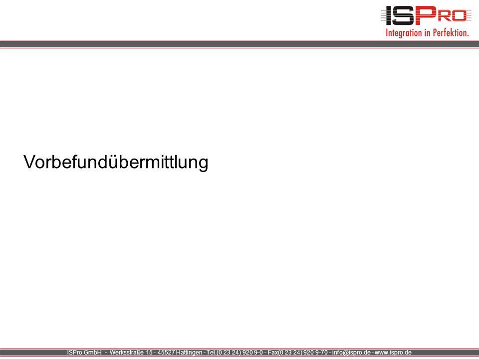 ISPro GmbH - Werksstraße 15 - 45527 Hattingen - Tel.(0 23 24) 920 9-0 - Fax(0 23 24) 920 9-70 - info@ispro.de - www.ispro.de Lösungen Technische Plattform Reichweite Know-How/ Service/ Geschäftsmodelle