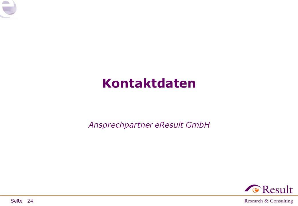 Seite Kontaktdaten Ansprechpartner eResult GmbH 24