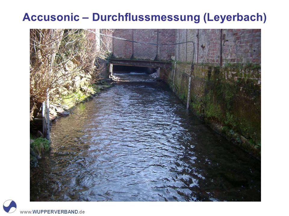 www.WUPPERVERBAND.de Accusonic – Durchflussmessung (Leyerbach)