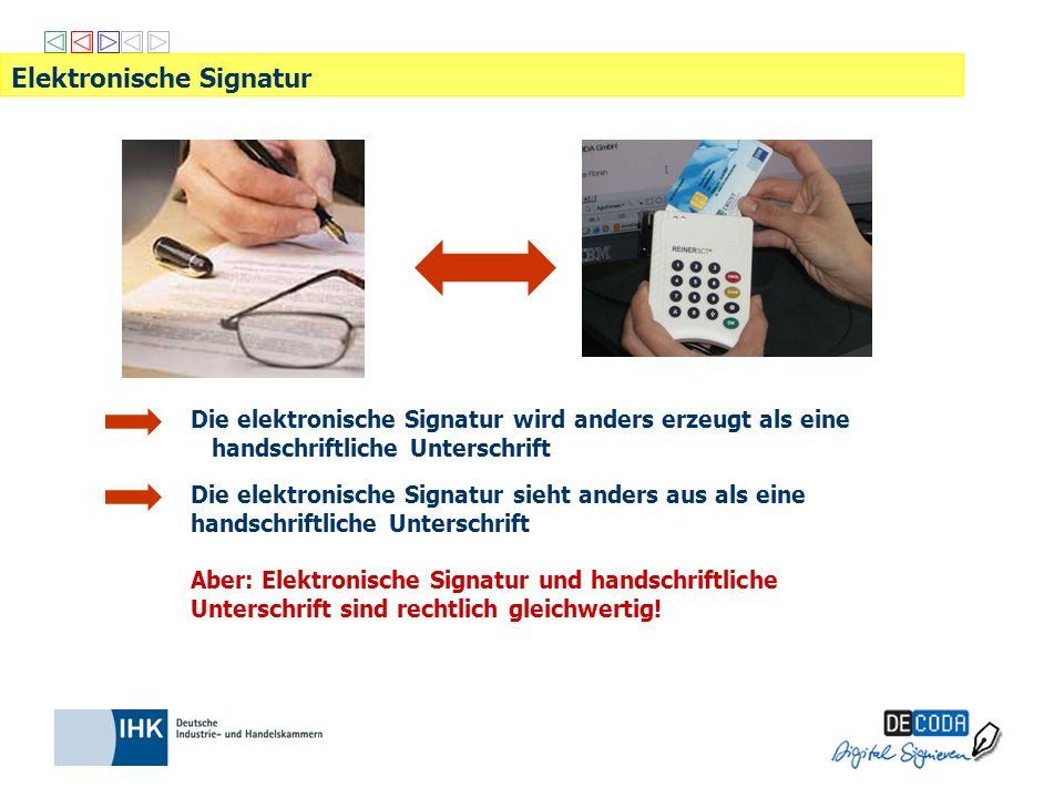 Elektronisch Signieren in der Praxis Innerhalb der bestehenden Anwendungssoftware klickt der User auf den Befehl Signieren.