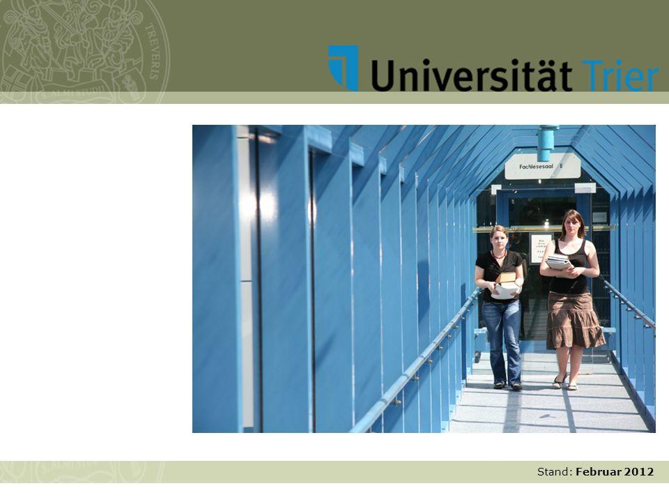 Stand: November 2007 Studium und Lehre Stand: Februar 2012