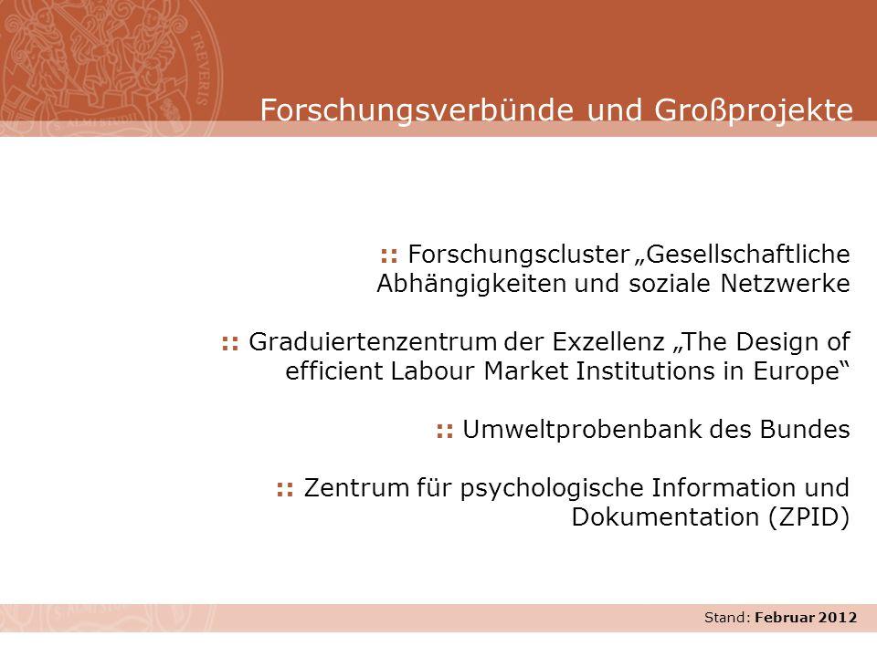 Stand: November 2007 :: Forschungscluster Gesellschaftliche Abhängigkeiten und soziale Netzwerke :: Graduiertenzentrum der Exzellenz The Design of eff