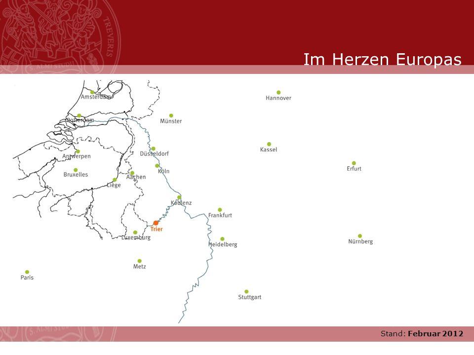 Stand: November 2007 :: 1970 Wiedereröffnung der neuen Doppeluniversität Trier-Kaiserslautern :: 1975 Universität Trier wird eigenständig Junge Uni mit Tradition Stand: Februar 2012