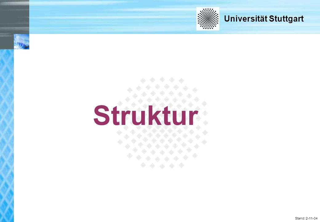 Universität Stuttgart Stand: 2-11-04 Struktur
