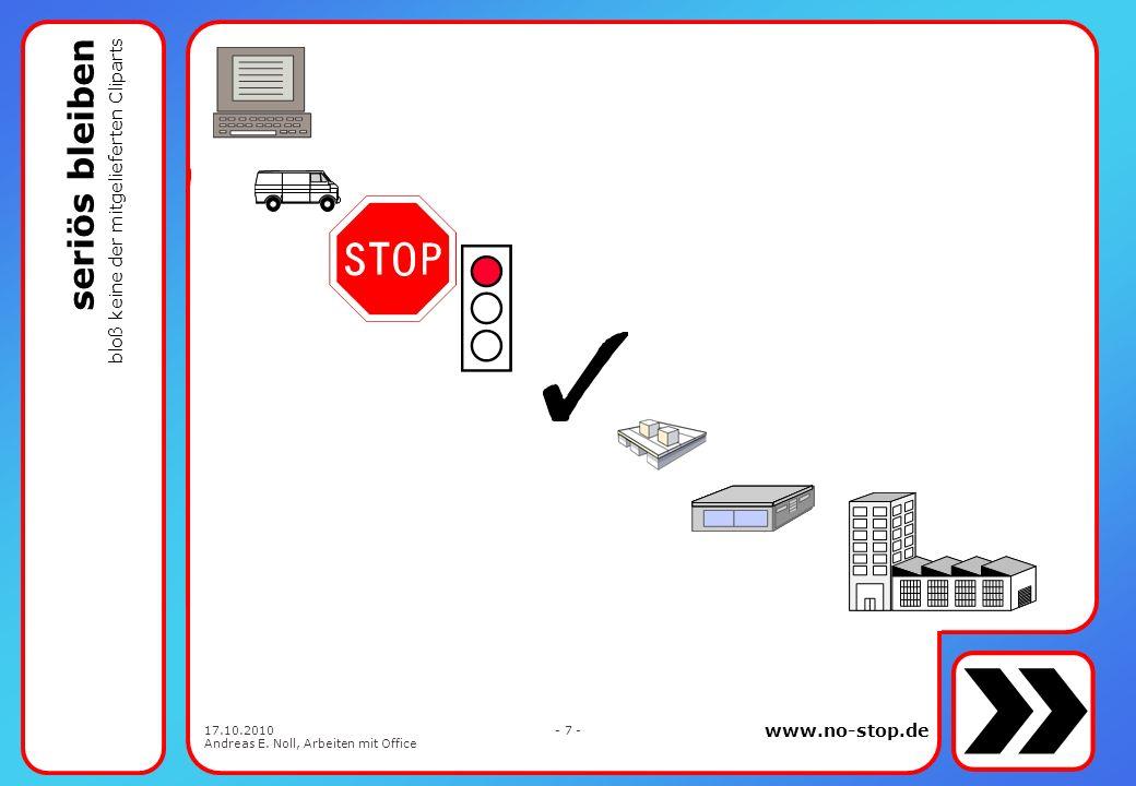 www.no-stop.de 17.10.2010 Andreas E. Noll, Arbeiten mit Office - 6 - ein Bild sagt mehr als 1.000 Worte
