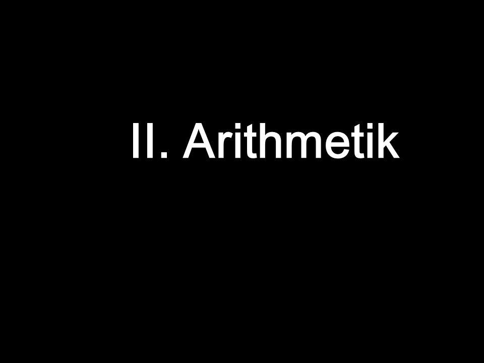 II. Arithmetik