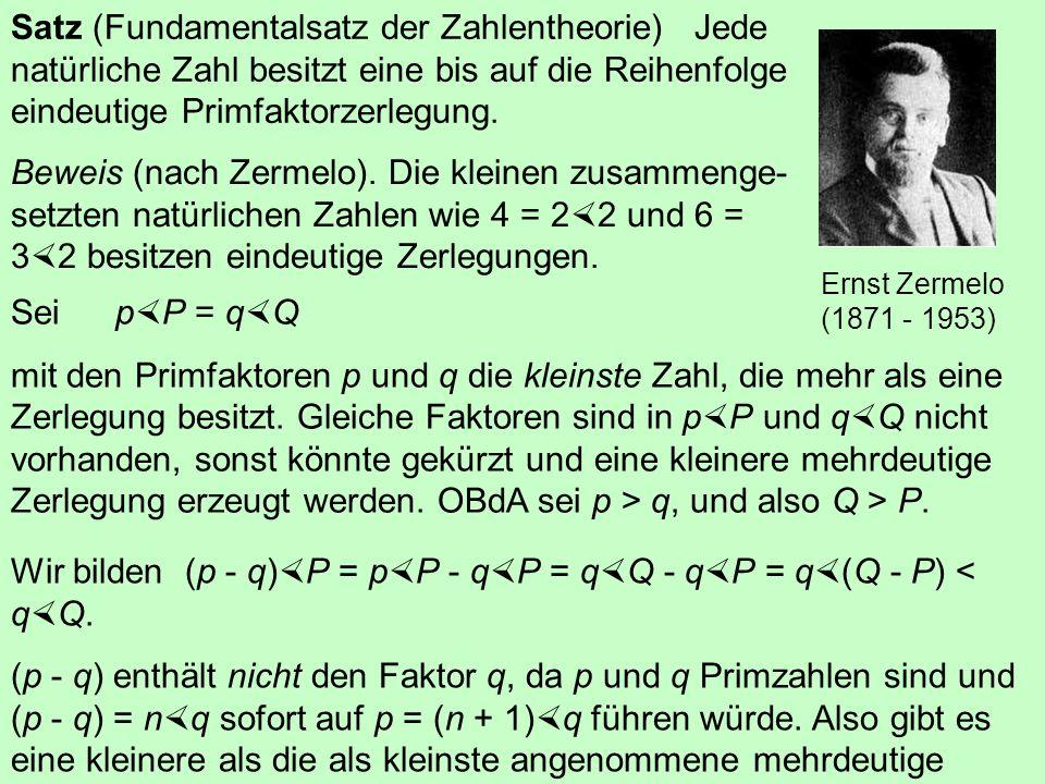 4.3 Primzahlen Eine natürliche Zahl, die sich ohne Rest nur durch 1 und durch sich selbst teilen lässt, heißt Primzahl. Ausnahme:1 Sieb des Eratosthen