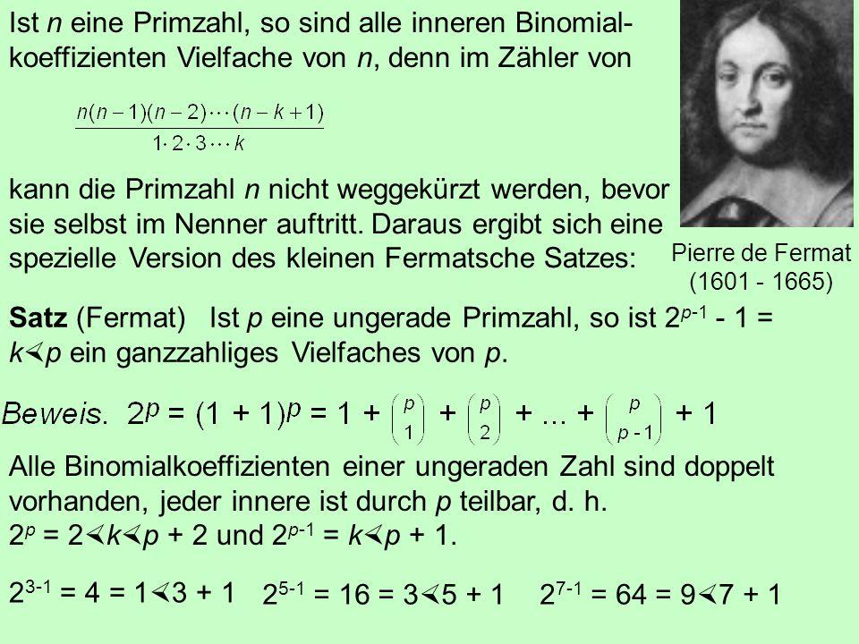 Satz (Fundamentalsatz der Zahlentheorie) Jede natürliche Zahl besitzt eine bis auf die Reihenfolge eindeutige Primfaktorzerlegung. Ernst Zermelo (1871