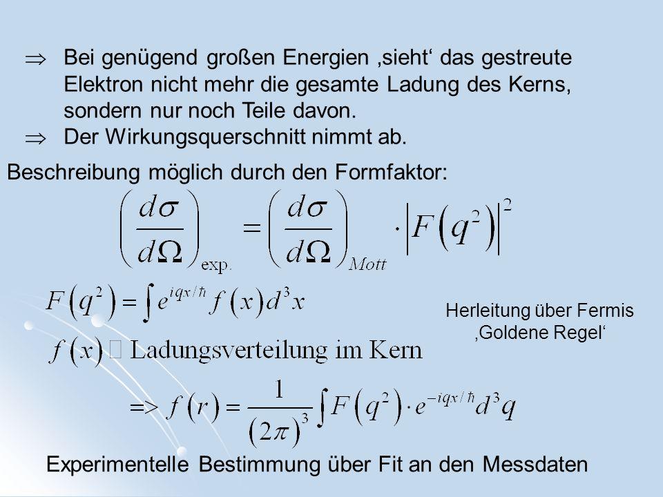 Feynman-Diagramm der Proton- -Resonanz-Anregung Bei invarienten Massen W>2,5GeV sieht man keine Anregungsspektren mehr, sondern neue stark wechselwirkende Teilchen (Hadronen)