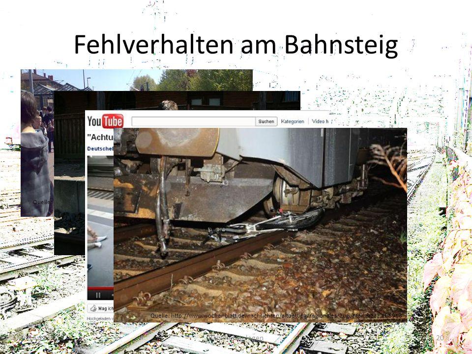 Fehlverhalten am Bahnsteig 14.11.2013Bahnhofsanlagen20 Quelle: http://www.stimme.de/heilbronn/nachrichten/region/sonstige-Schueler- auf-den-Gleisen-Po