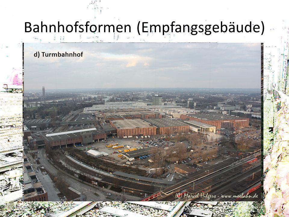 Bahnhofsformen (Empfangsgebäude) 14.11.2013Bahnhofsanlagen7 a) Kopfbahnhof b) Inselbahnhof Quelle: http://images.google.de/imgres?q=neuss+hauptbahnhof