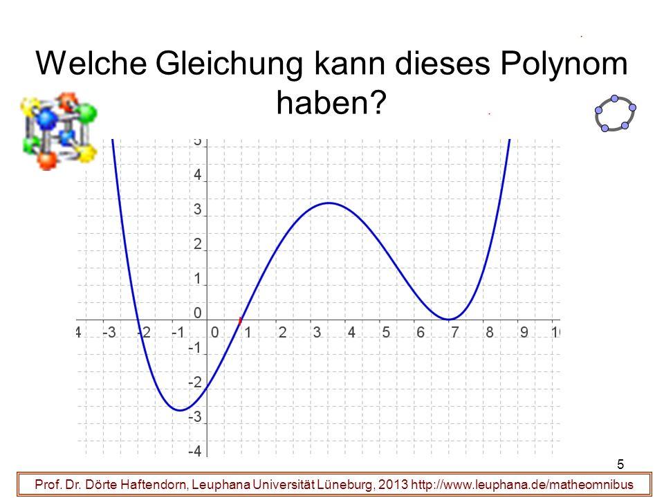5 Welche Gleichung kann dieses Polynom haben? Prof. Dr. Dörte Haftendorn, Leuphana Universität Lüneburg, 2013 http://www.leuphana.de/matheomnibus