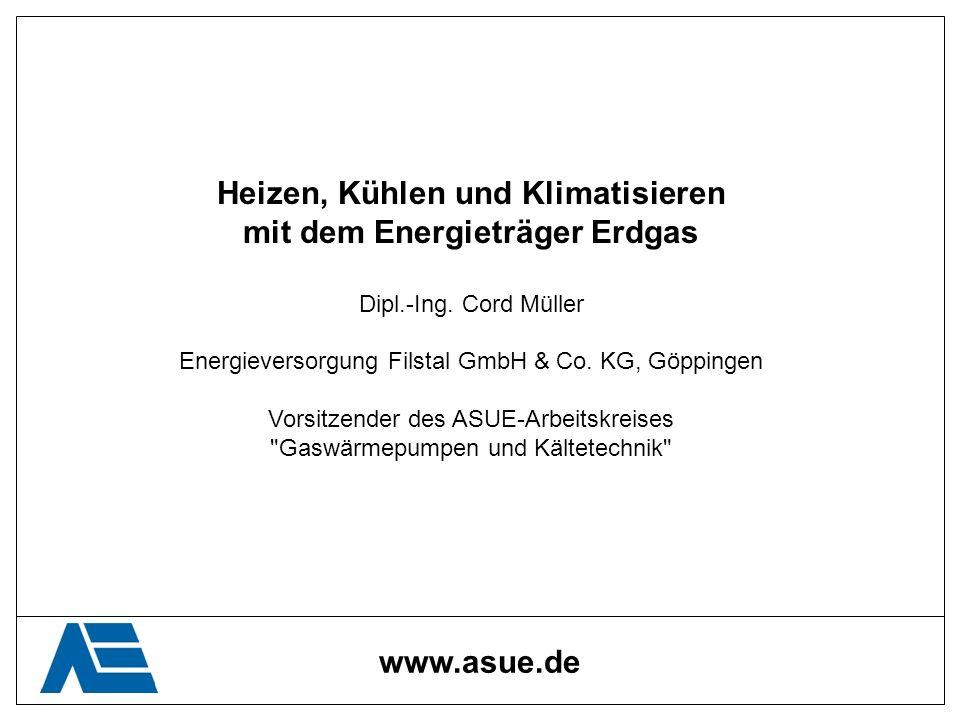 Heizen, Kühlen und Klimatisieren mit dem Energieträger Erdgas Dipl.-Ing. Cord Müller Energieversorgung Filstal GmbH & Co. KG, Göppingen Vorsitzender d