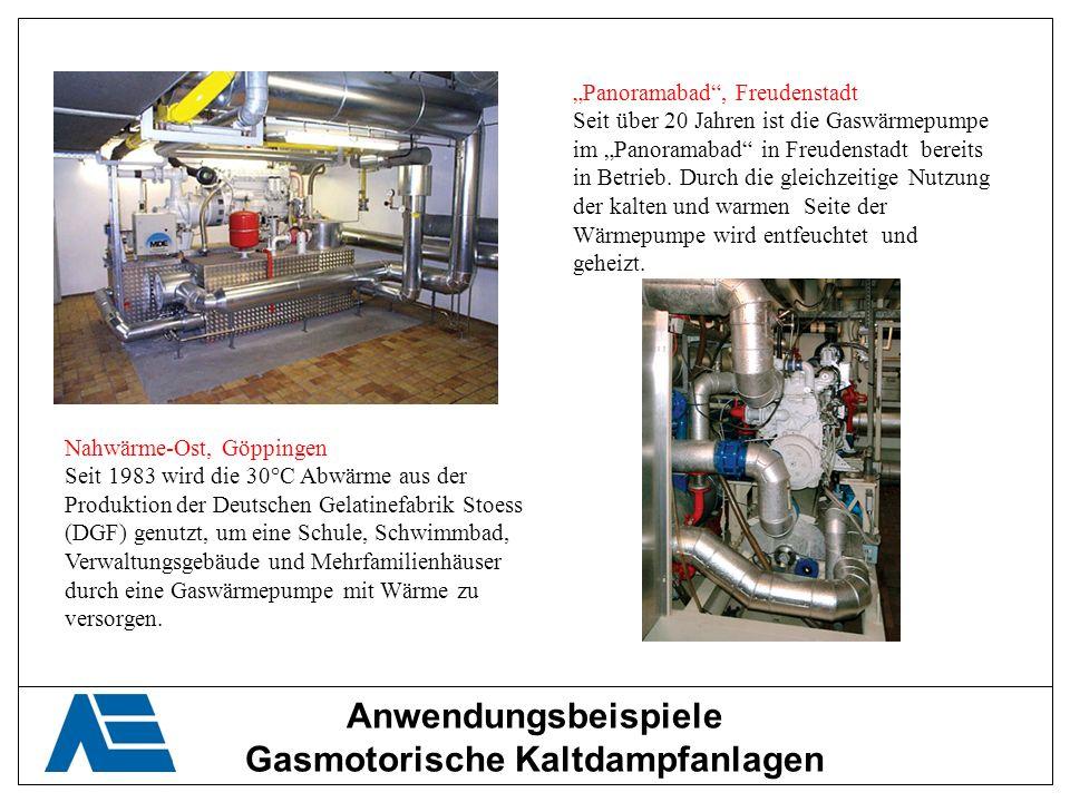 Anwendungsbeispiele Gasmotorische Kaltdampfanlagen Panoramabad, Freudenstadt Seit über 20 Jahren ist die Gaswärmepumpe im Panoramabad in Freudenstadt