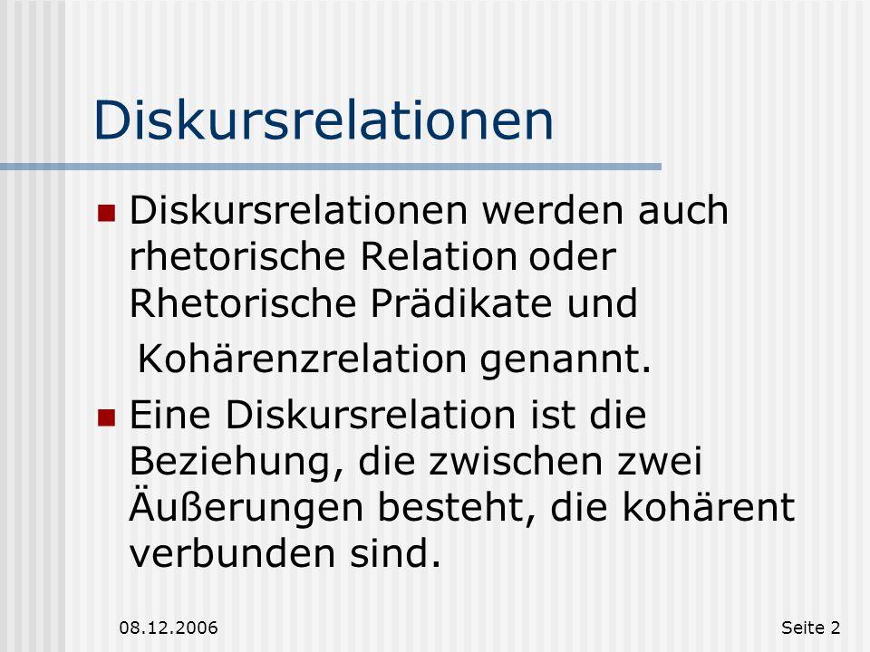 Diskursrelationen und ihre Markierung Antonina Wertmann Olena Beck