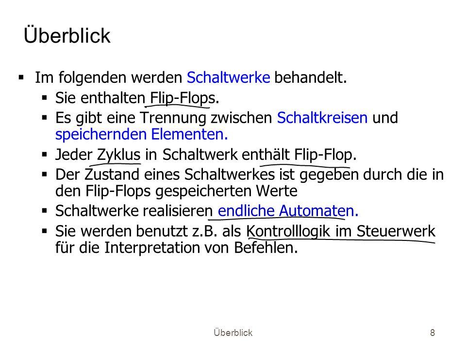 Überblick19 Ansteuerung Ansteuerung von Ein-/Ausgabeeinheiten (Peripheriegeräte) z.B.