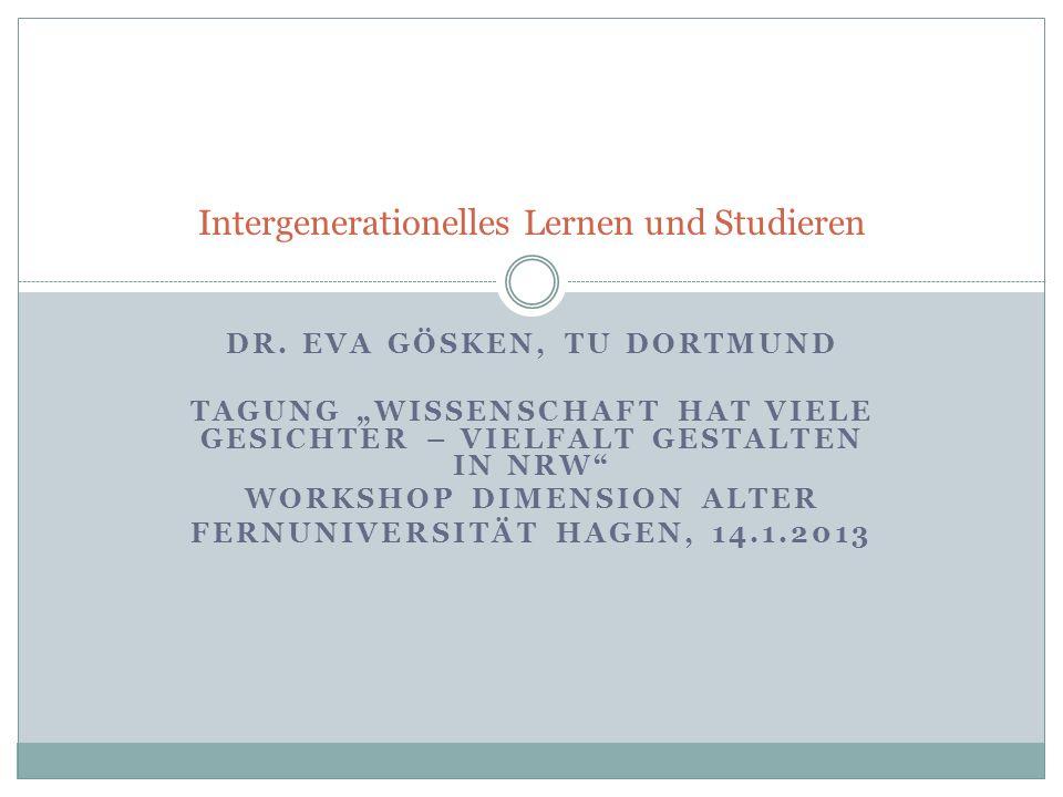 Aufbau: 1.Einführung 2. Zum Begriff des intergenerationellen Lernens 3.