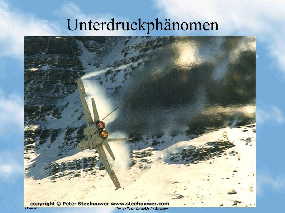 Technik Frank-Peter Schmidt-Lademann Unterdruckphänomen