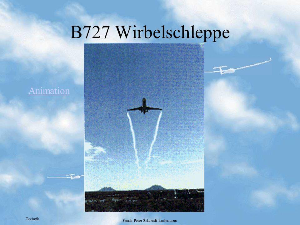Technik Frank-Peter Schmidt-Lademann B727 Wirbelschleppe Animation