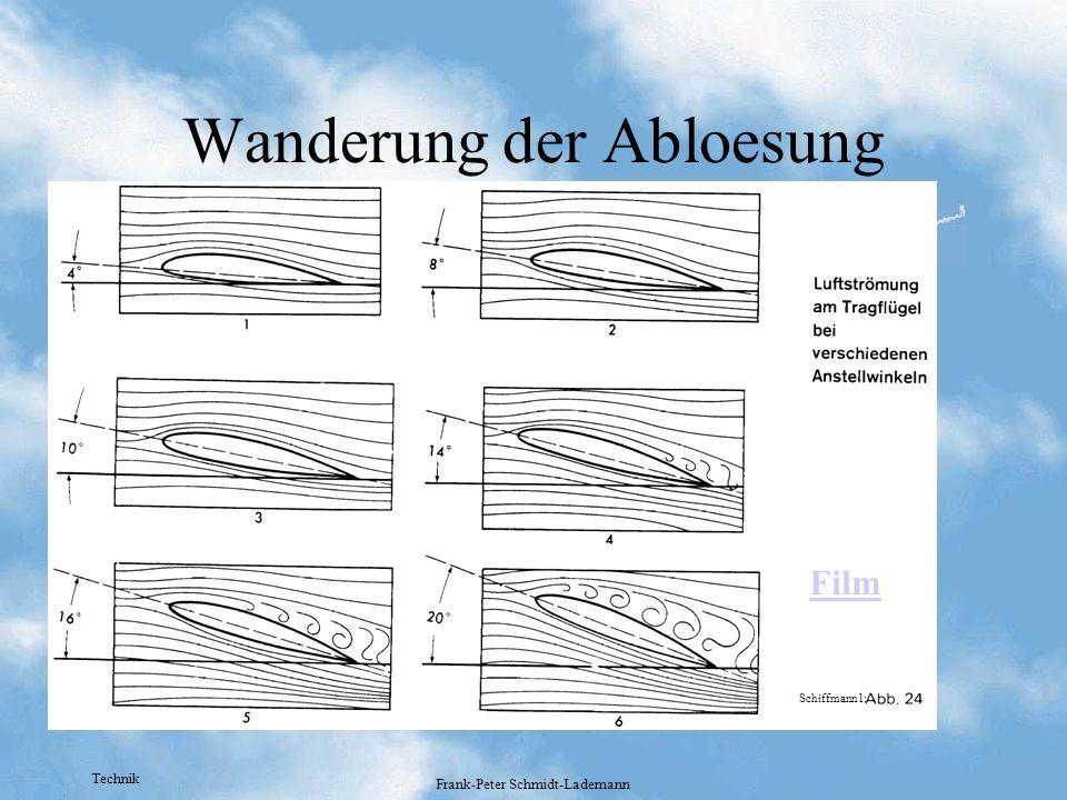 Technik Frank-Peter Schmidt-Lademann Wanderung der Abloesung Film Schiffmann1: