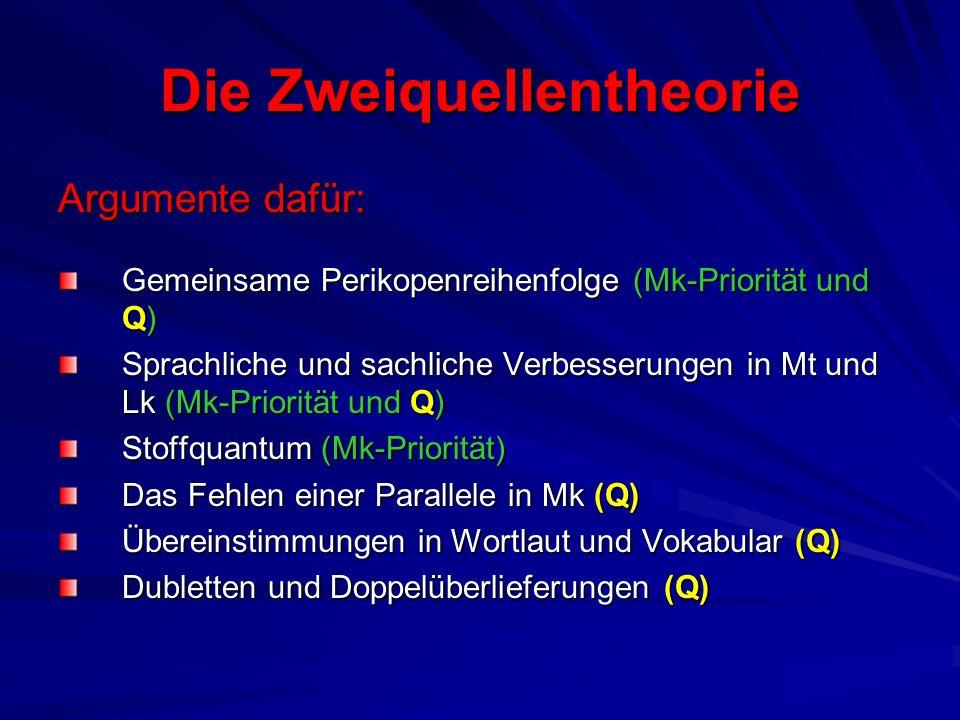 Die Zweiquellentheorie C.H. Weisse