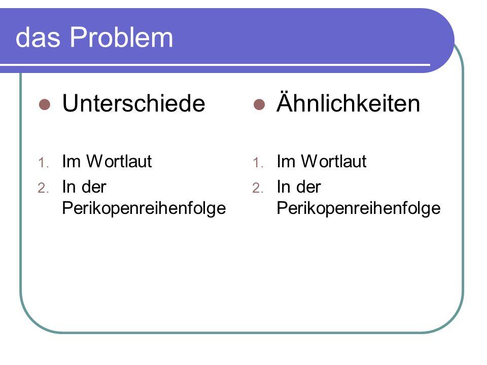Das synoptische Problem Mk LkMt