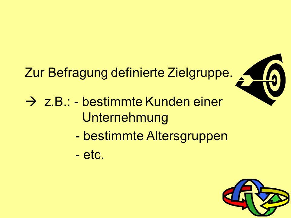 1.schriftliche Befragung 2. telefonische Befragung 3.