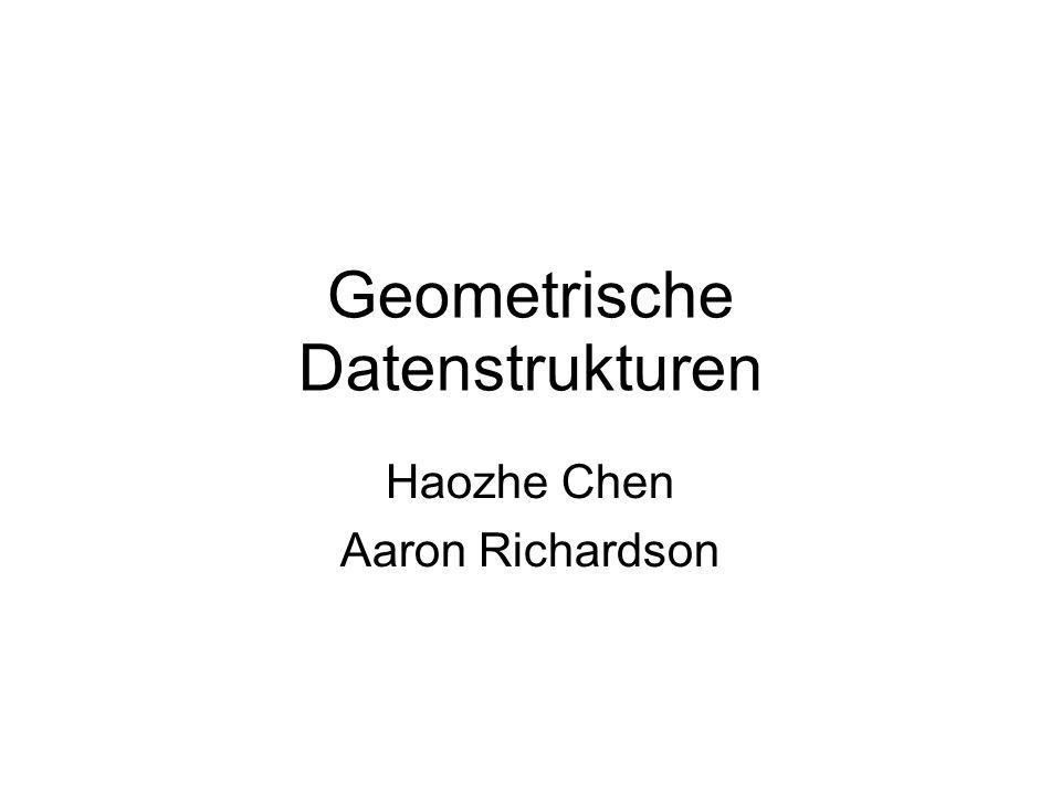 Geometrische Datenstrukturen Haozhe Chen Aaron Richardson