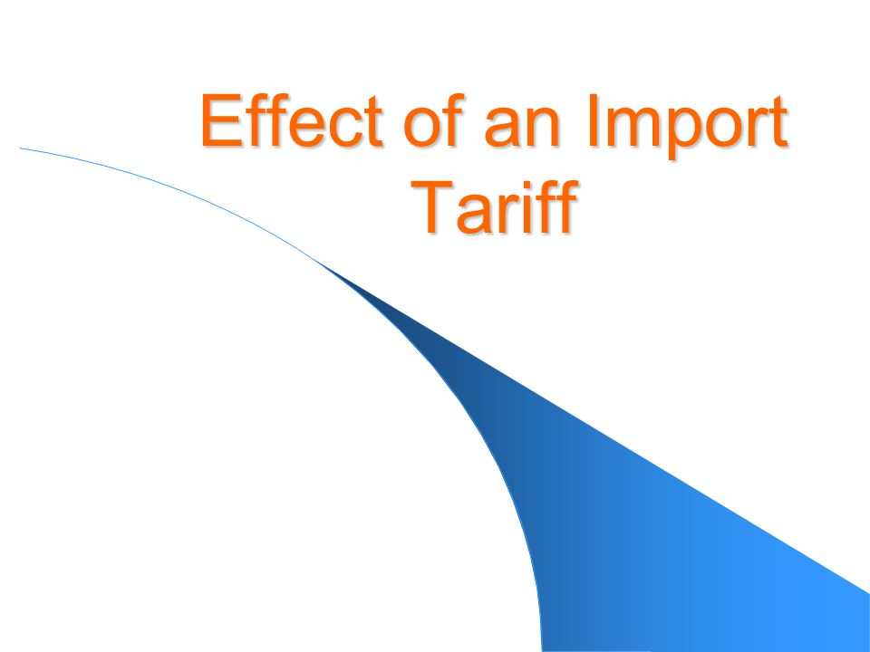 Effect of an Import Tariff