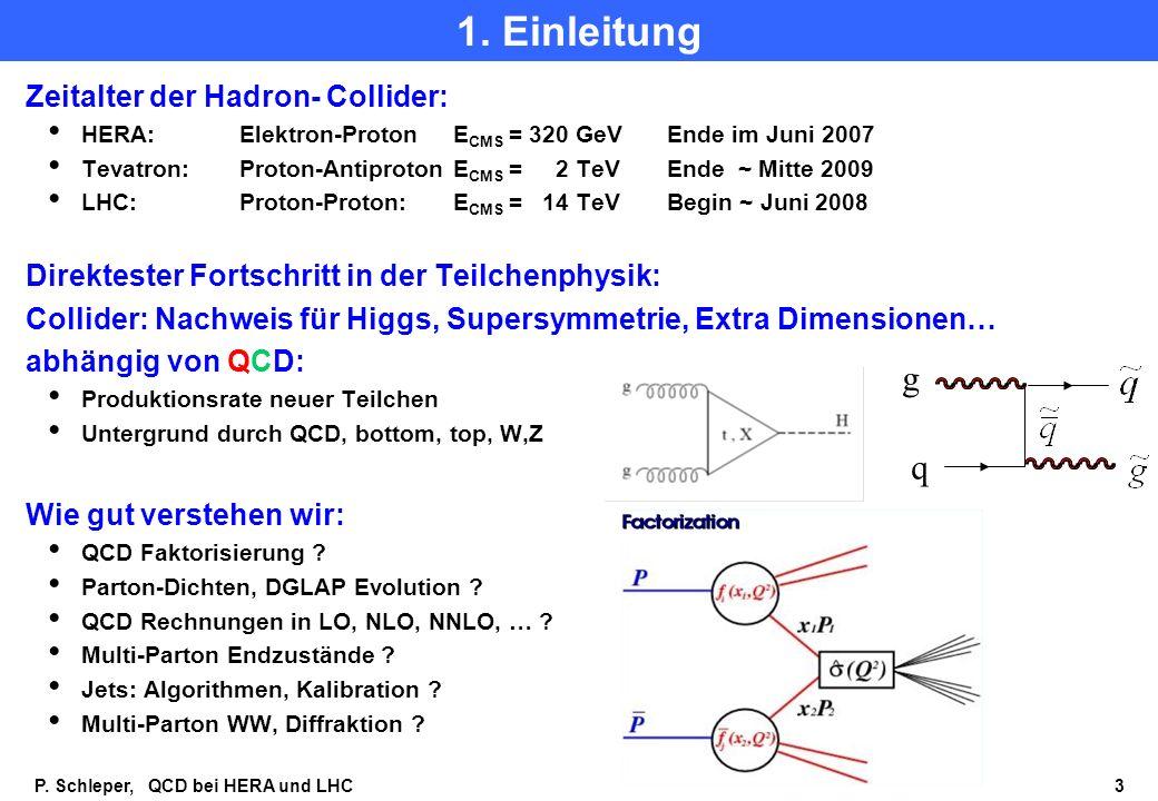 P.Schleper, QCD bei HERA und LHC 3 1.