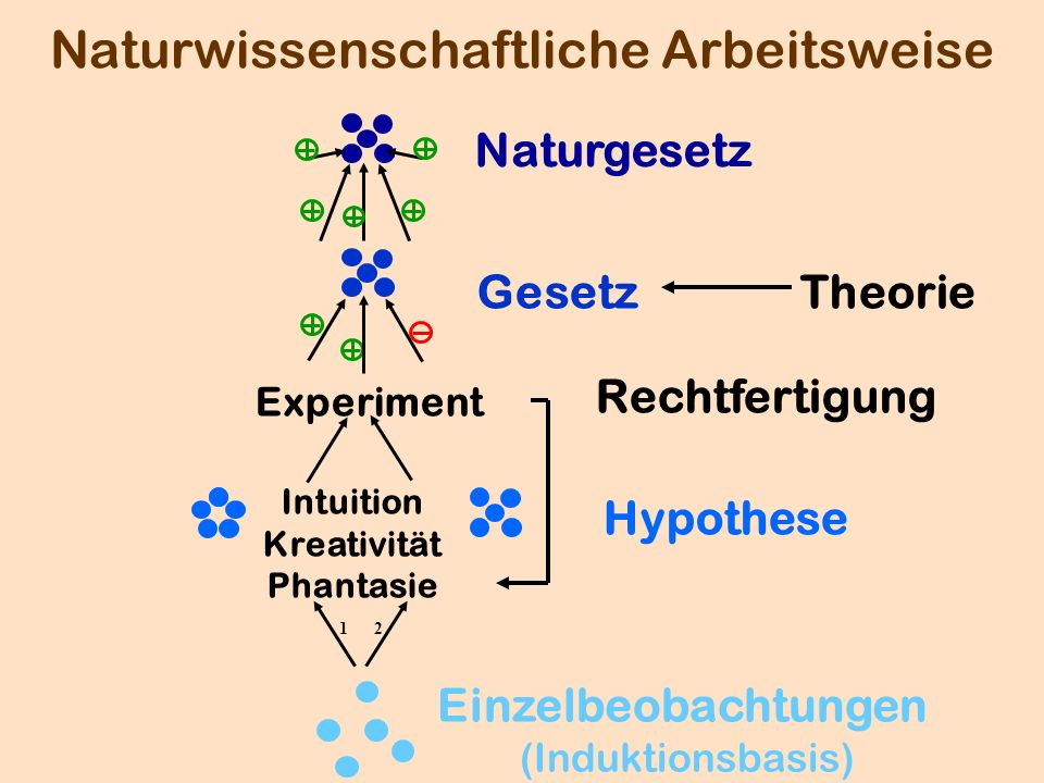 Naturwissenschaftliche Arbeitsweise Gesetz Naturgesetz Hypothese Intuition Kreativität Phantasie 12 Experiment Rechtfertigung Theorie Einzelbeobachtun
