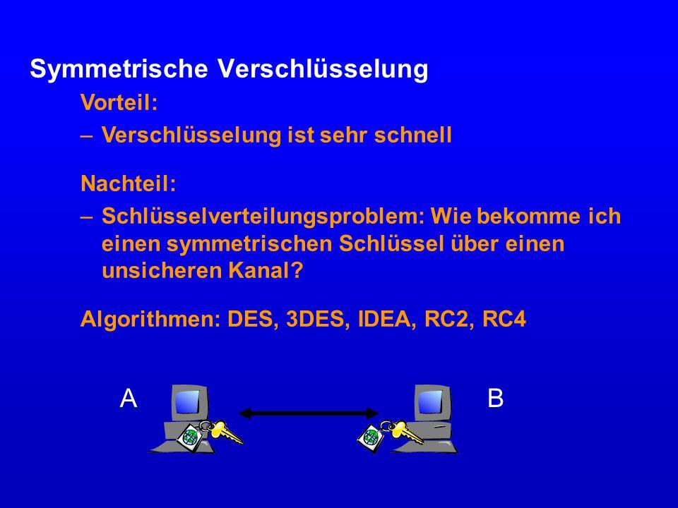 Cipher-Suiten NameVersion Schlüsselvert.