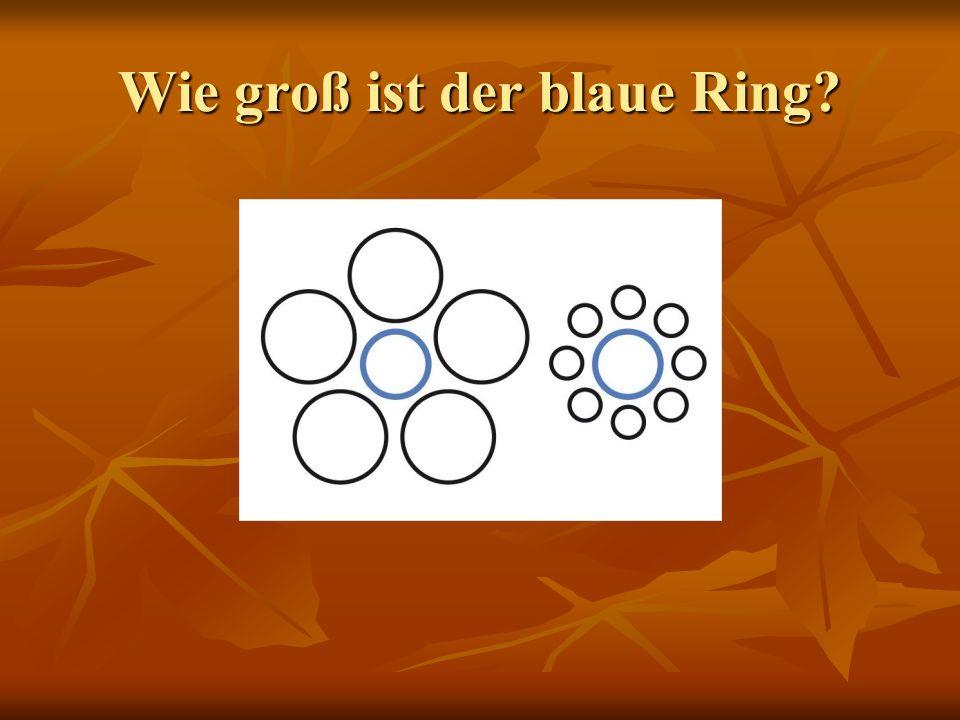 Wie groß ist der blaue Ring?