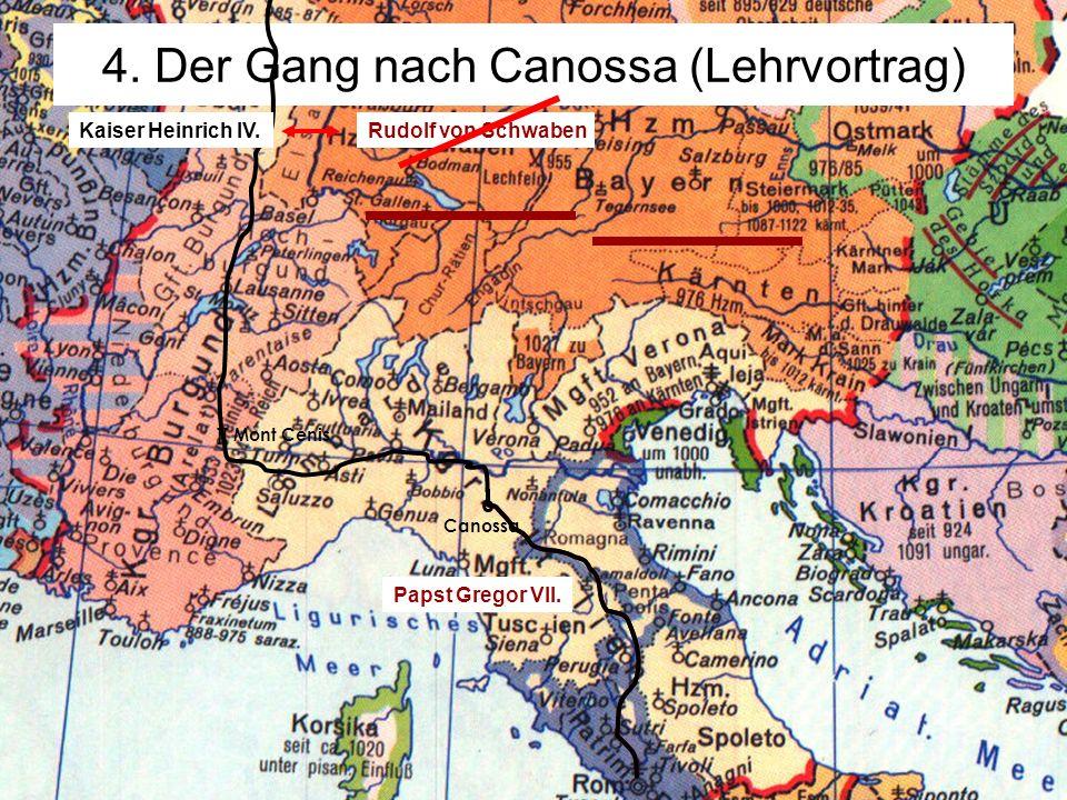 7.1.3 Feudalgesellschaft - Investiturstreit© digitale-schule-bayern.de - Roman Eberth ][ Mont Cenis 4. Der Gang nach Canossa (Lehrvortrag) Canossa Kai