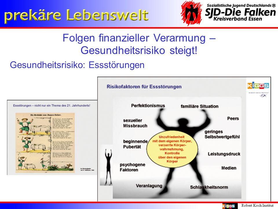 Folgen finanzieller Verarmung – Gesundheitsrisiko steigt! Robert Koch Institut Gesundheitsrisiko: Essstörungen