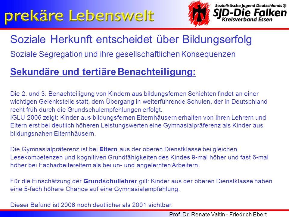 4.Benachteiligung: Schülerinnen und Schüler sind in Deutschland aber noch einer 4.