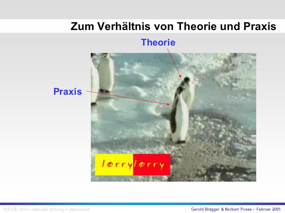 Gerold Brägger & Norbert Posse – Februar 2005 Zum Verhältnis von Theorie und Praxis Theorie Praxis