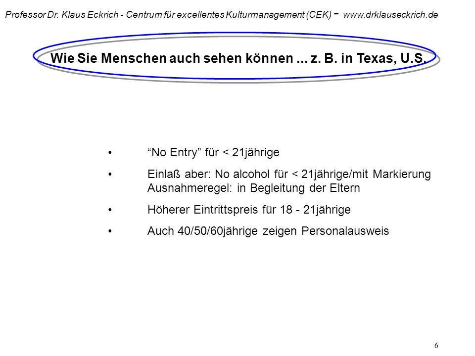 Professor Dr. Klaus Eckrich - Centrum für excellentes Kulturmanagement (CEK) - www.drklauseckrich.de 5 Einführung - Interkulturelle Kommunikation Über