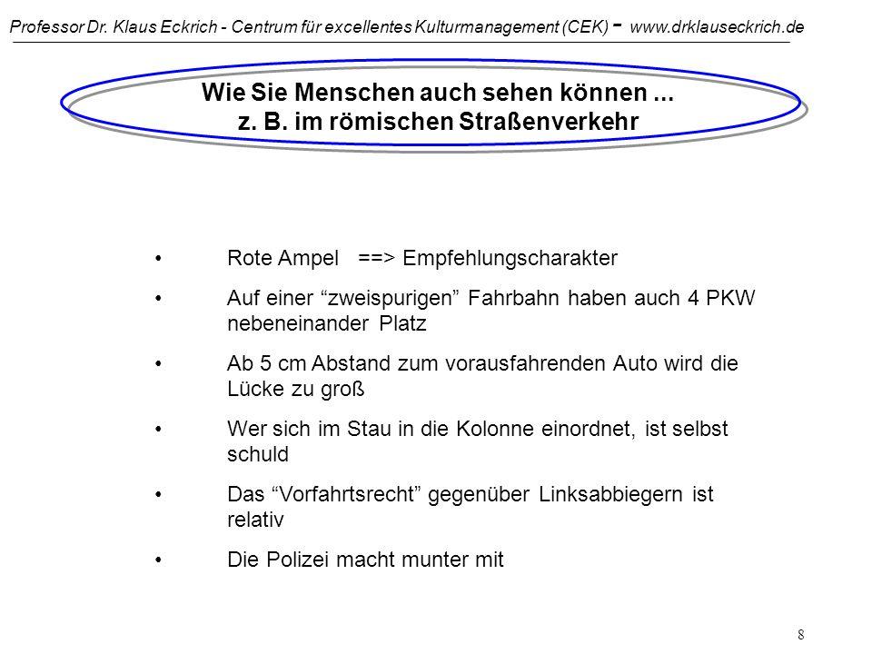 Professor Dr. Klaus Eckrich - Centrum für excellentes Kulturmanagement (CEK) - www.drklauseckrich.de 7 Wie Sie Menschen auch sehen können... z. B. in