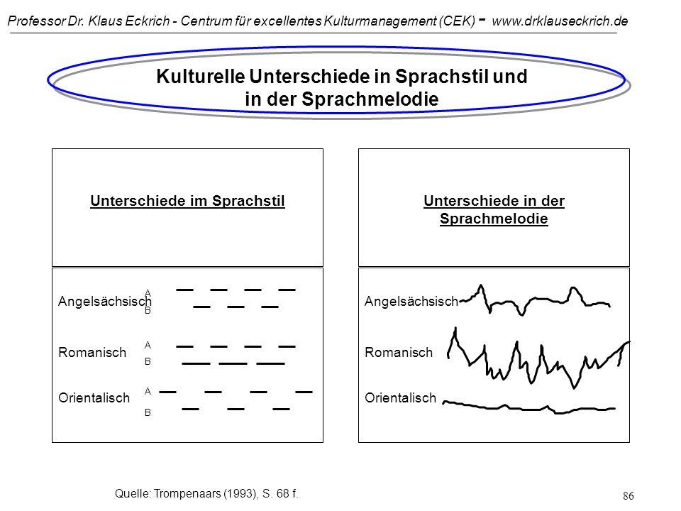 Professor Dr. Klaus Eckrich - Centrum für excellentes Kulturmanagement (CEK) - www.drklauseckrich.de 85 IKM: Quellen für sprachliche Missverständnisse
