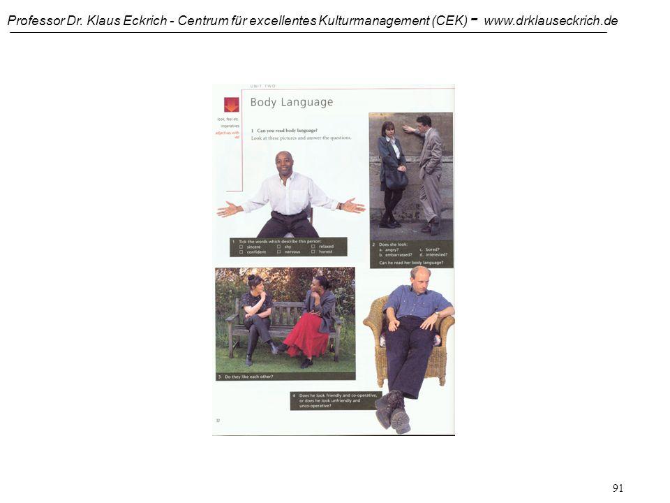 Professor Dr. Klaus Eckrich - Centrum für excellentes Kulturmanagement (CEK) - www.drklauseckrich.de 90