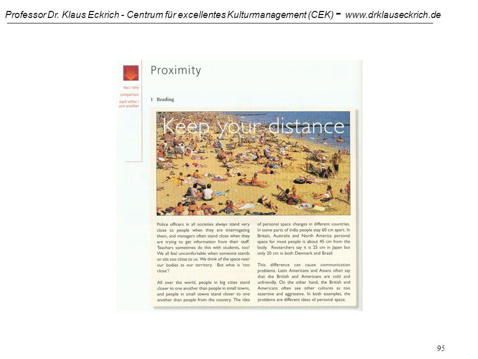 Professor Dr. Klaus Eckrich - Centrum für excellentes Kulturmanagement (CEK) - www.drklauseckrich.de 94