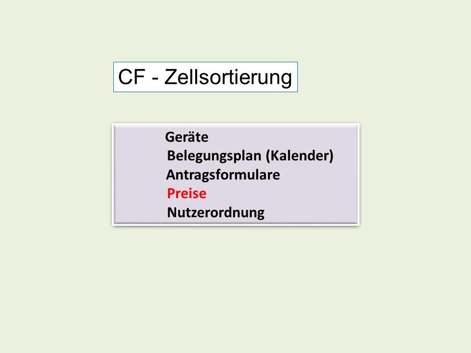 Geräte Belegungsplan (Kalender) Antragsformulare Preise Nutzerordnung Geräte Belegungsplan (Kalender) Antragsformulare Preise Nutzerordnung CF - Zells