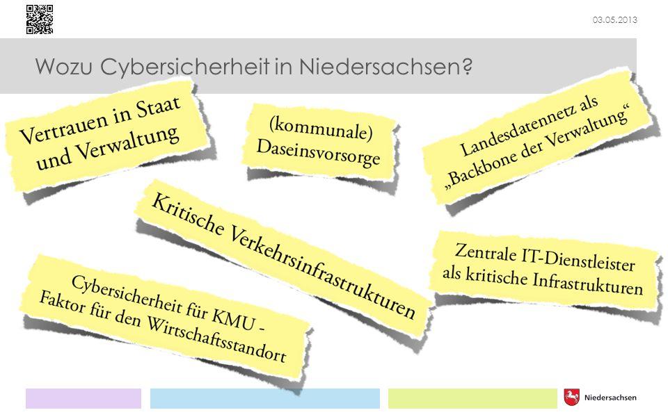 03.05.2013 Wozu Cybersicherheit in Niedersachsen?
