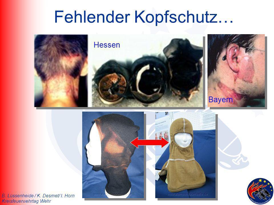 B. Lüssenheide / K. Desmet/ I. Horn Kreisfeuerwehrtag Wehr Fehlender Kopfschutz… Hessen Bayern