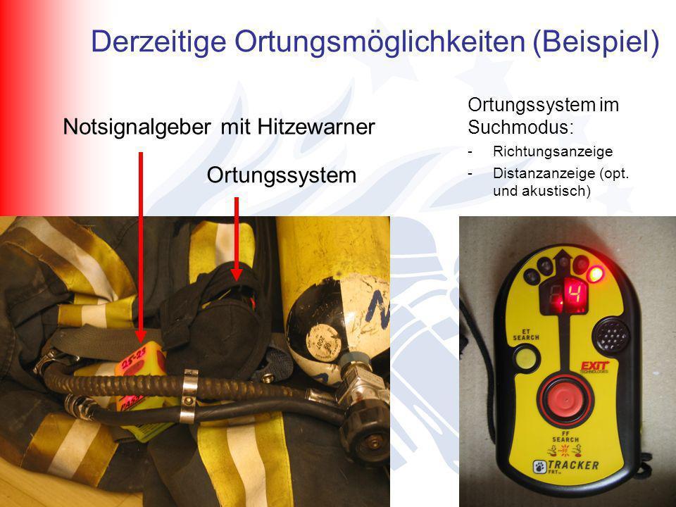 B. Lüssenheide / K. Desmet/ I. Horn Kreisfeuerwehrtag Wehr Notsignalgeber mit Hitzewarner Ortungssystem Ortungssystem im Suchmodus: -Richtungsanzeige