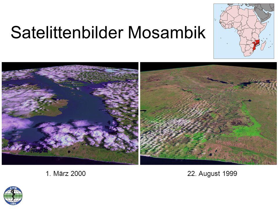 Satelittenbilder Mosambik 1. März 200022. August 1999