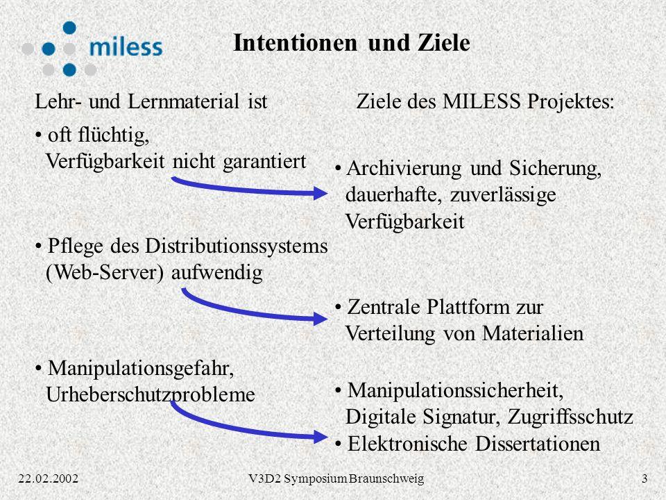 1422.02.2002V3D2 Symposium Braunschweig Personen- / Körperschaftsdaten Unterstützung mehrerer Namensformen je Person, z.